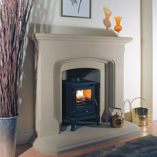 "A beautiful range of fireplaces designed and made especially for solid fuel. Sandstone surrounds including the continental designs are  suitable for all types of solid fuel appliances includng 16"" or 18"" Open Fires."